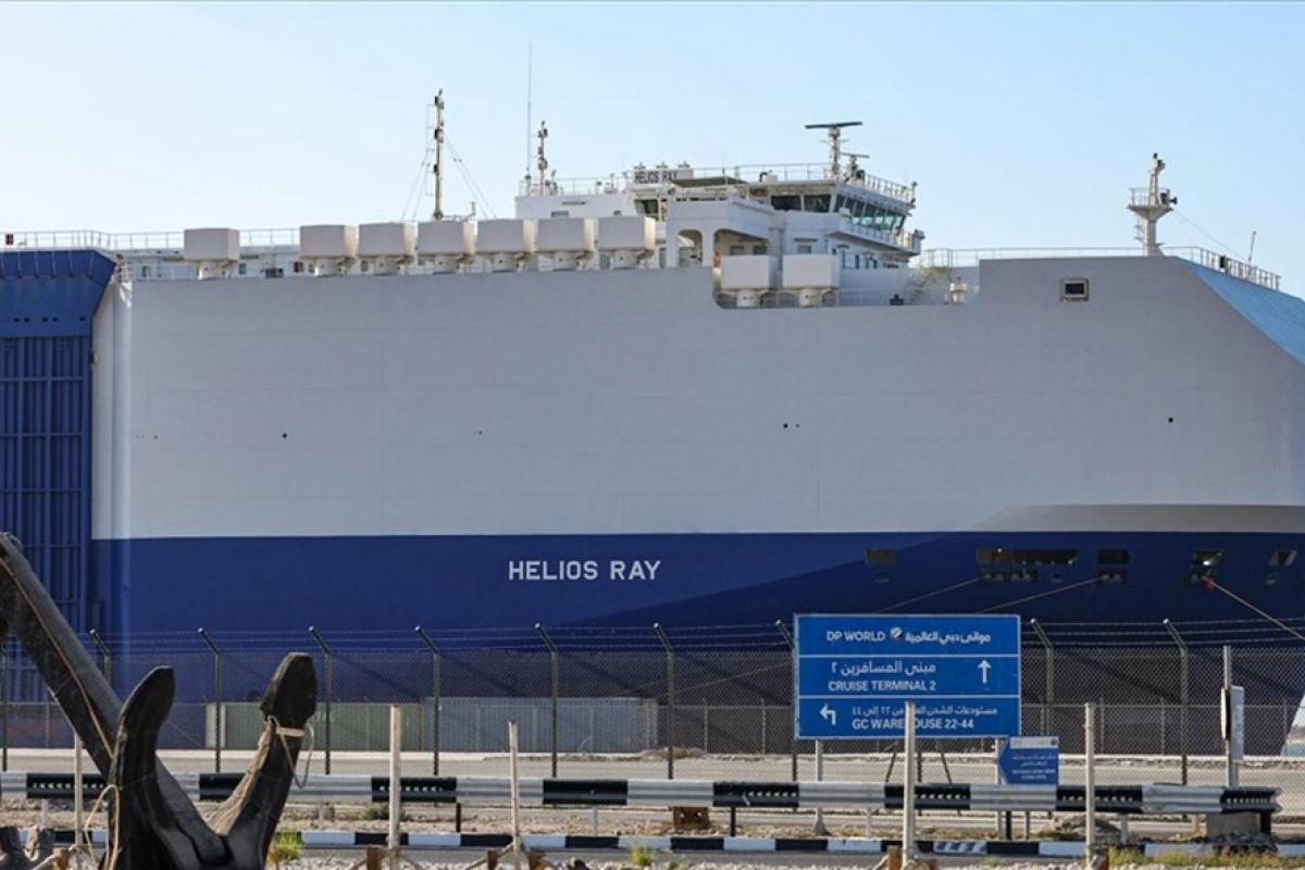 Tàu chở hàng Helios Ray thuộc sở hữu của Israel. Ảnh: AP
