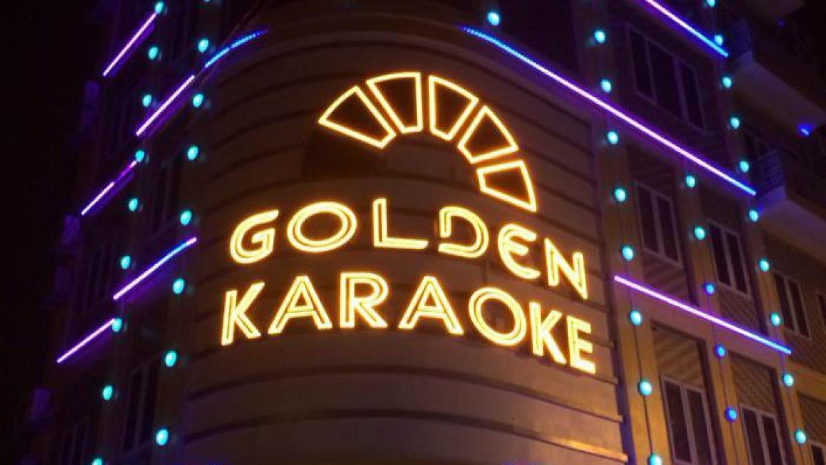 Quán karaoke, nơi xảy ra vụ việc.