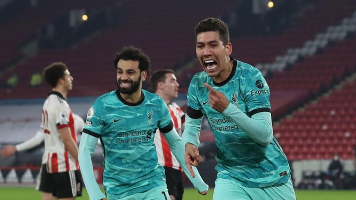 Các cầu thủ Liverpool ăn mừng bàn nâng tỉ số lên 2-0 (Ảnh: Reuters).