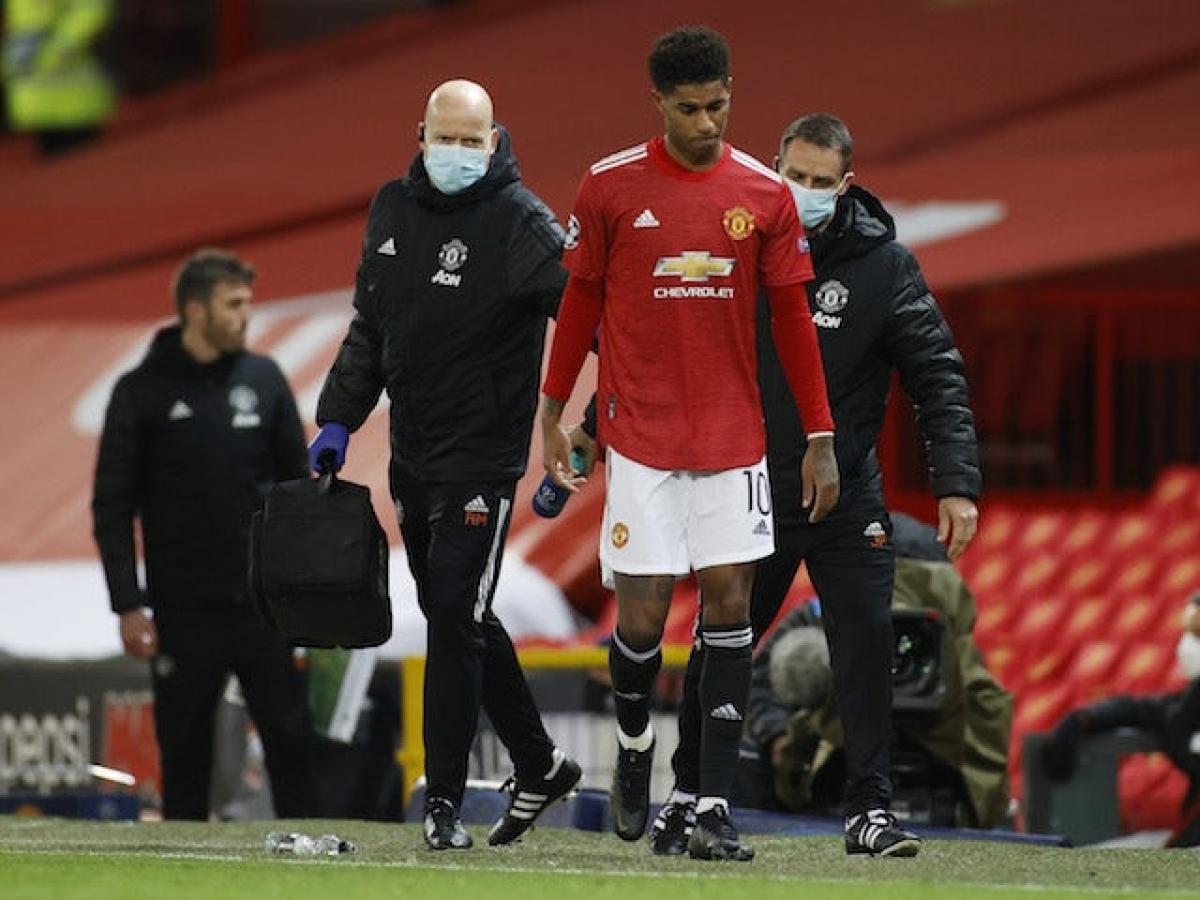 Rashford dính chấn thương vai (Ảnh: Reuters).