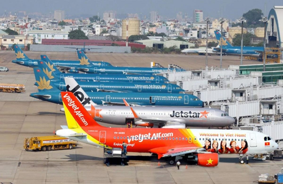 Ước tính năm 2020, các hãng hàng không Việt Nam đã phải gánh khoản lỗ trên 18.000 tỷ đồng từ hoạt động vận tải hàng không (Ảnh minh họa: KT)