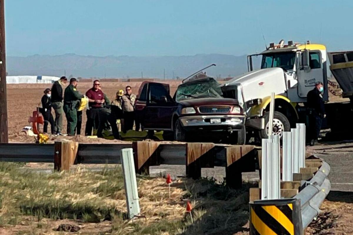 Hiện trường vụ tai nạn (Ảnh: AP).