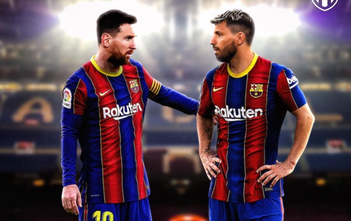 Lionel Messi chờ ngày đá cặp với Sergio Aguero ở Barca. (Ảnh: Bleacher Reports)