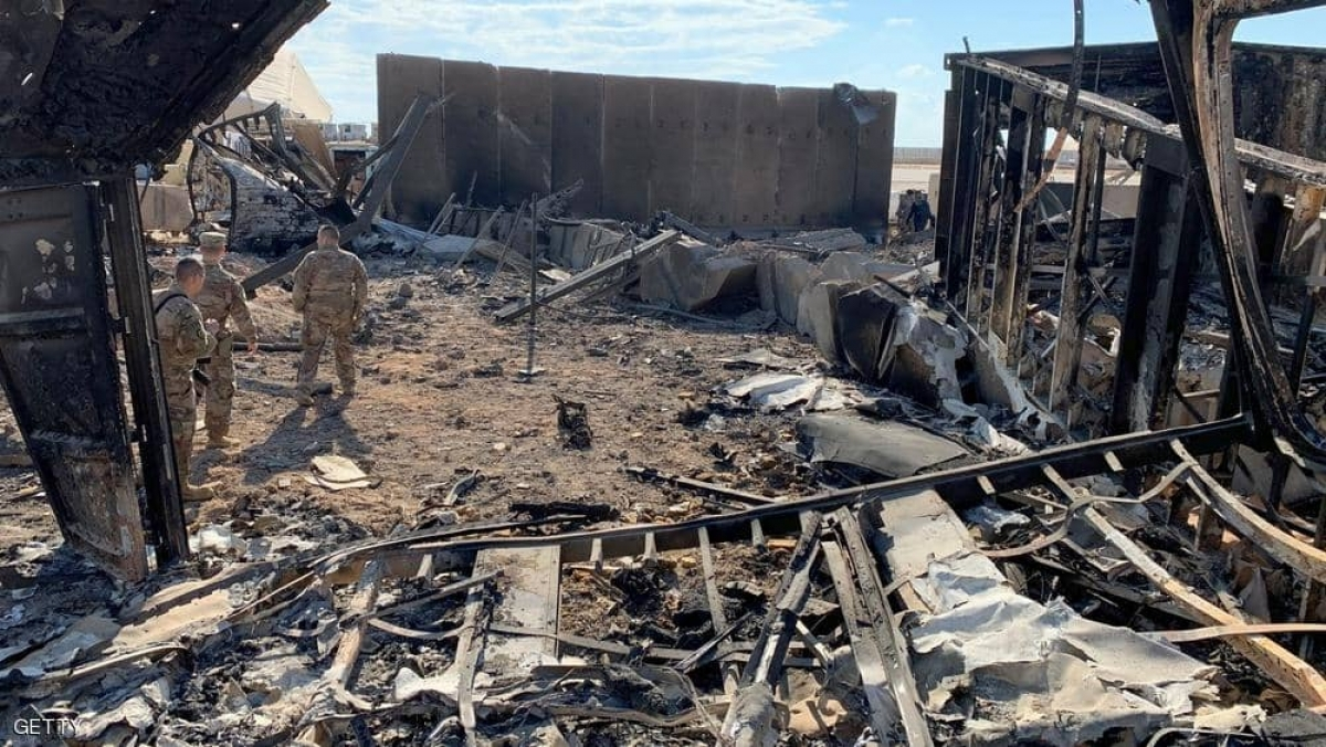 Một địa điểm ở Anbar bị tấn công tên lửa trước đây. Ảnh: Getty.