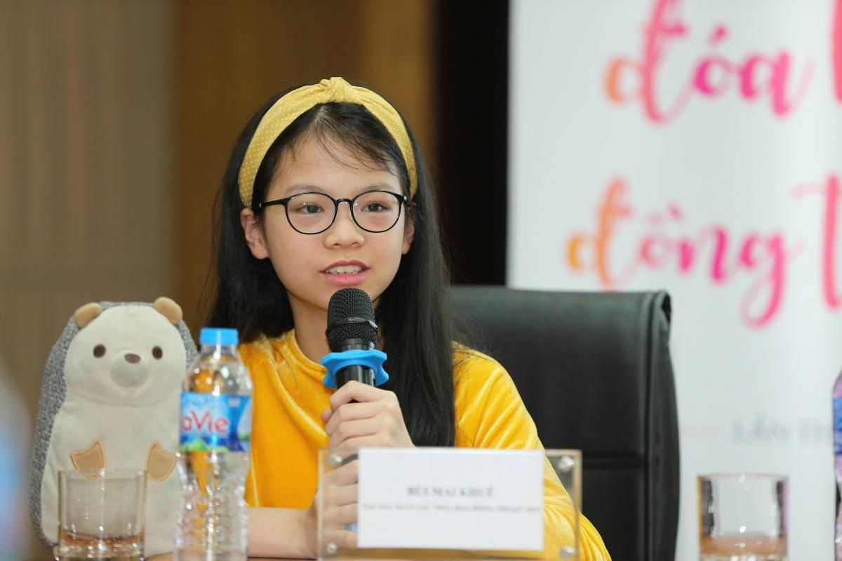 Bé Mai Khuê - tác giả đoạt giải năm 2019.