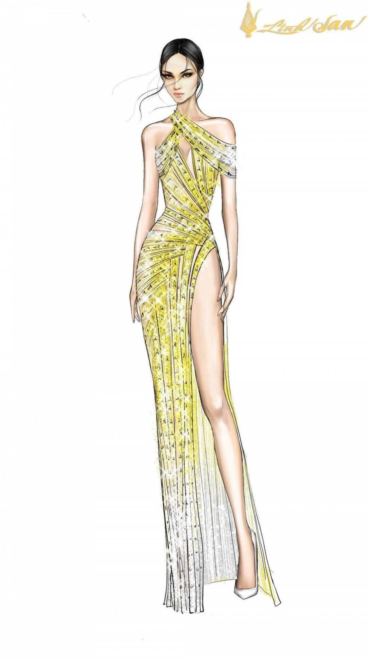 The yellow outfit will help her to stand out whilst on stage.