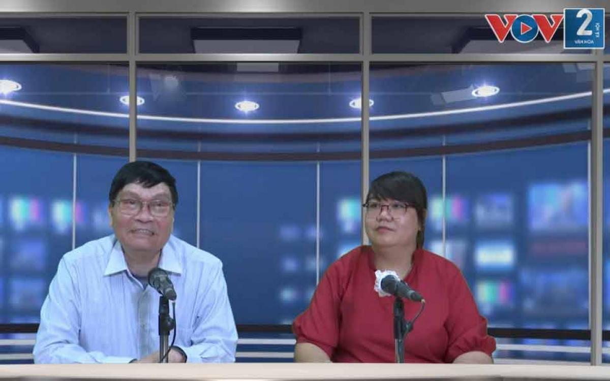 Ông Nguyễn Văn Thanh, nguyên Chủ tịch Hiệp hội Vận tải Ô tô Việt Nam trao đổi trực tiếp tại phòng thu VOV2.