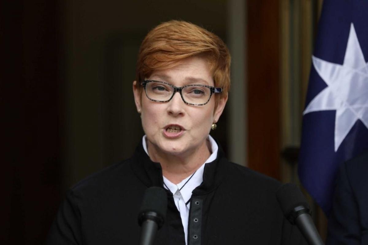 Ngoại trưởng Marise Payne khẳng định Australia sẽ không nhượng bộ để nối lại đối thoại với Trung Quốc. Ảnh ABC