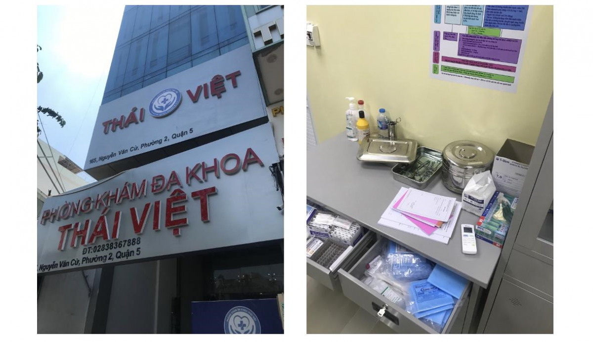 Phòng khám có bác sĩ Trung Quốc hoạt động không phép.