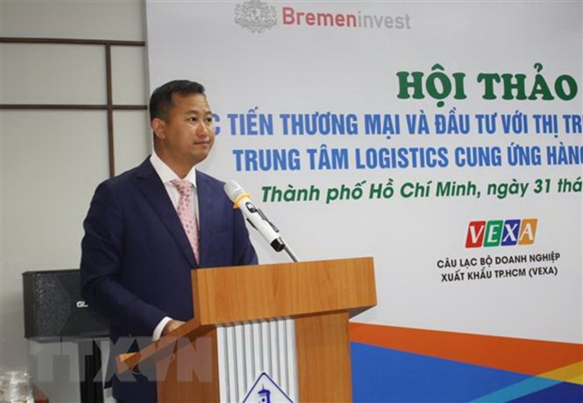 Tran Phu Lu, deputy director of the Investment & TradePromotion Centre(ITPC) of Ho Chi Minh City addresses the event