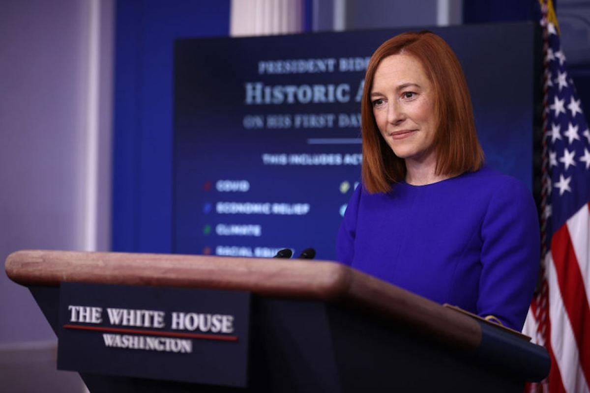 Người phát ngôn của Nhà Trắng Jen Psaki. Ảnh: Getty Images