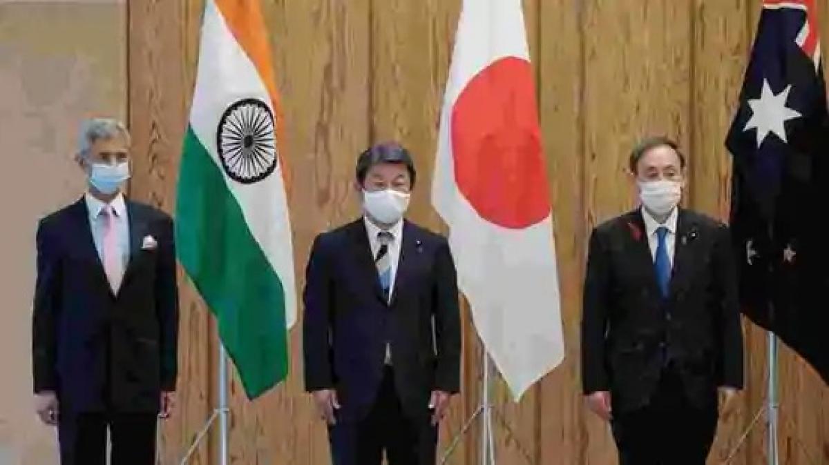 Hội nghị Bộ Tứ. Ảnh: Hindustan.