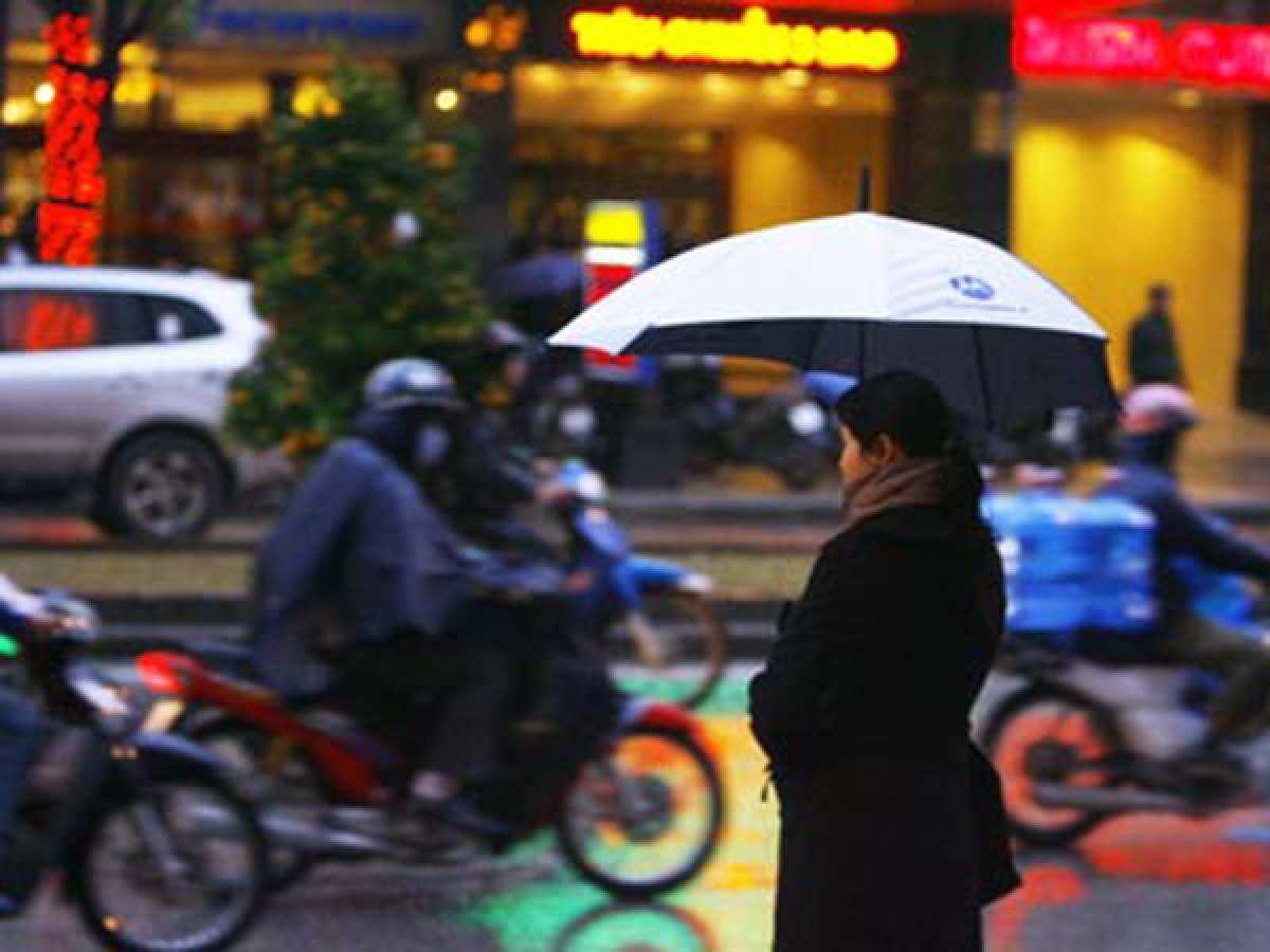 Không khí lạnh tràn về miền Bắc đã tác động đến một số nơi ở vùng núi phía Bắc và khu vực Đông Bắc Bắc Bộ.