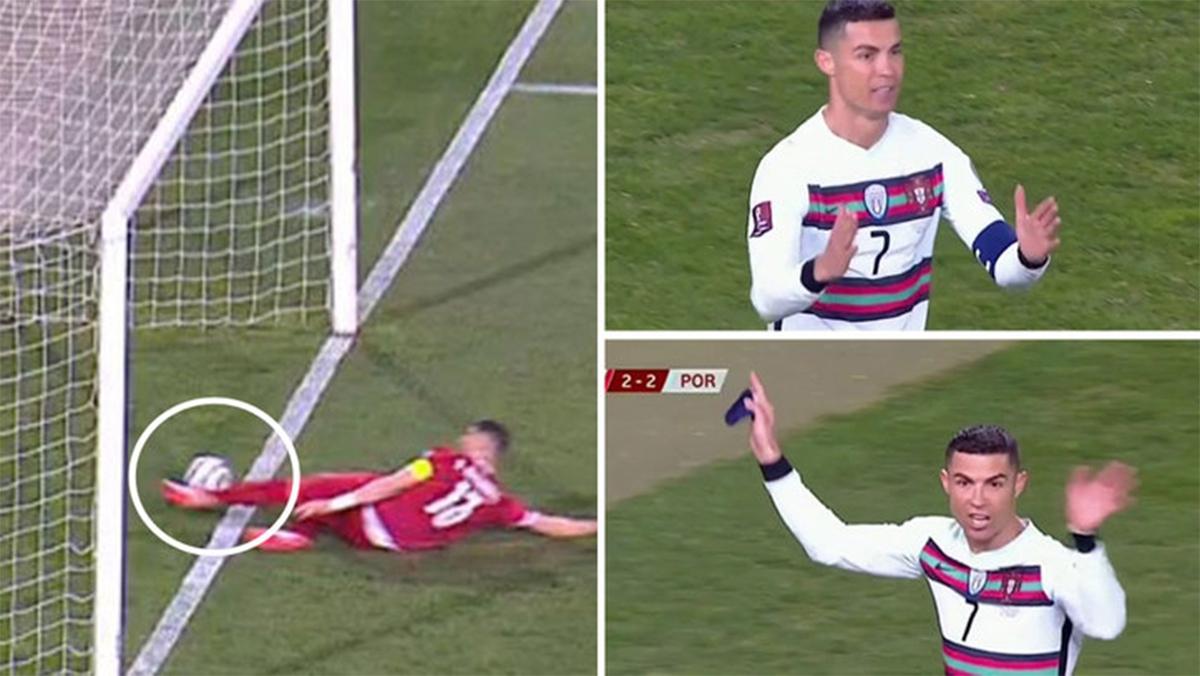 """Ronaldo bị """"cướp bàn thắng"""", Bồ Đào Nha đòi VAR ở Vòng loại World Cup"""