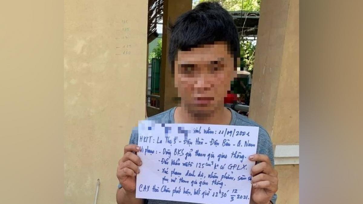 Đối tượng sàm sỡ giáo viên, học sinh bị công an bắt giữ.