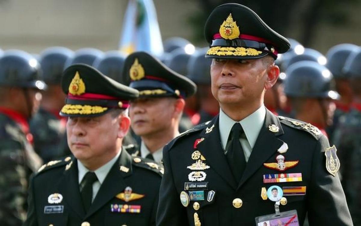 Sĩ quan cao cấp Thái Lan. Ảnh: Reuters.