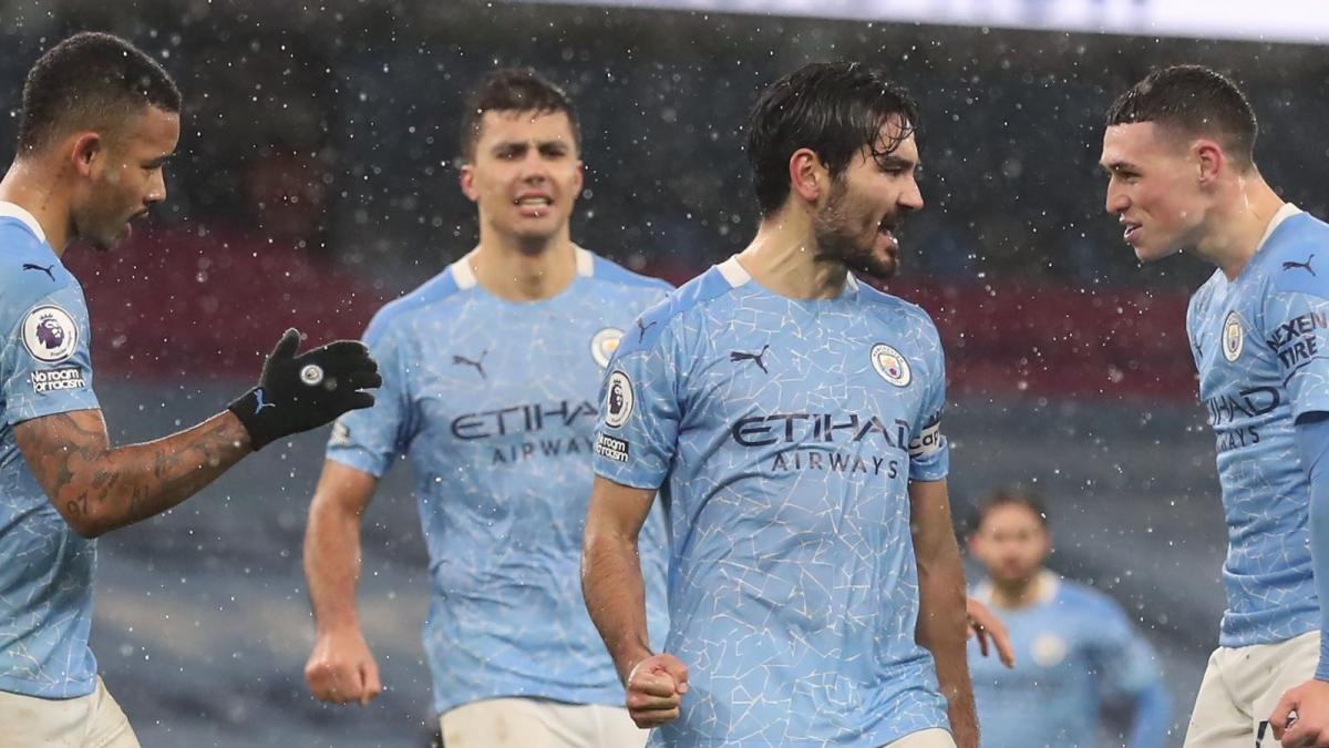 Man City sẽ có thể phá kỷ lục vô địch Ngoại hạng Anh sớm 7 vòng vào ngày 3/4 tới. (Ảnh: Getty).