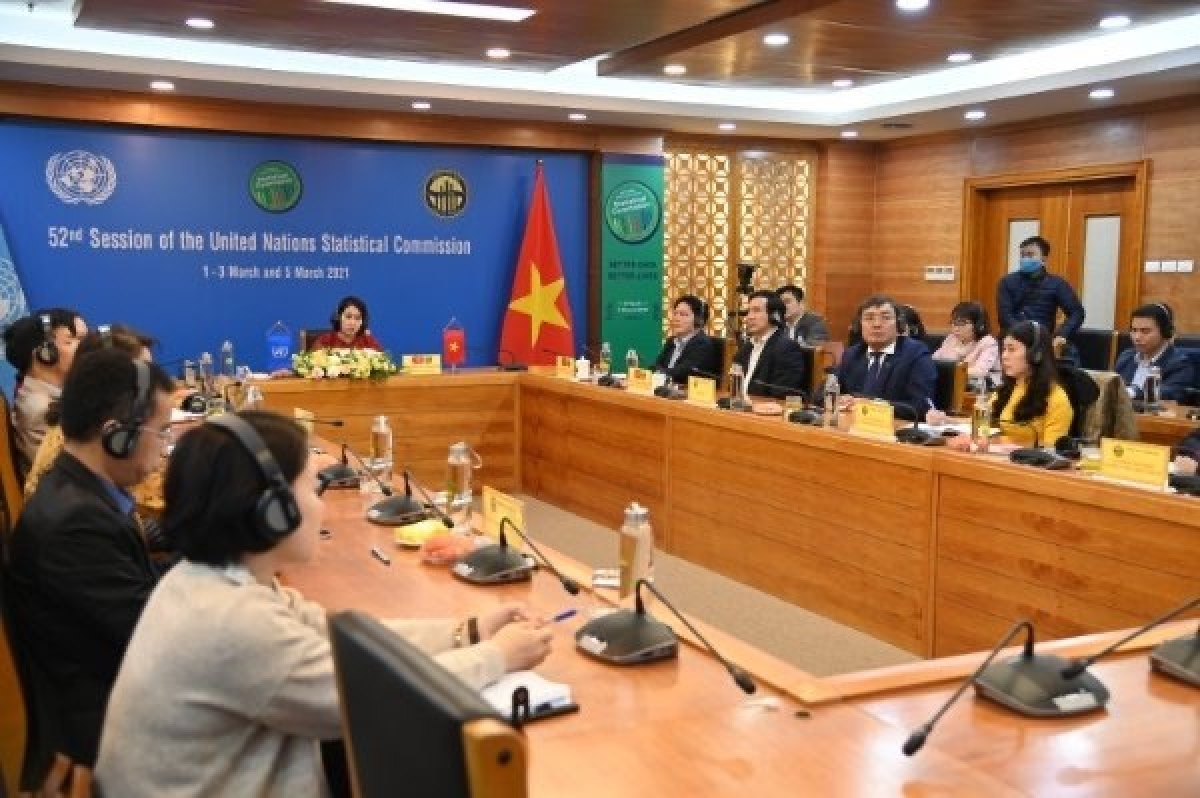 The General Statistics Office of Vietnam (GSO) attends the ongoing 52nd session of the United Nations Statistical Commission (UNSC). (Photo: VNA)