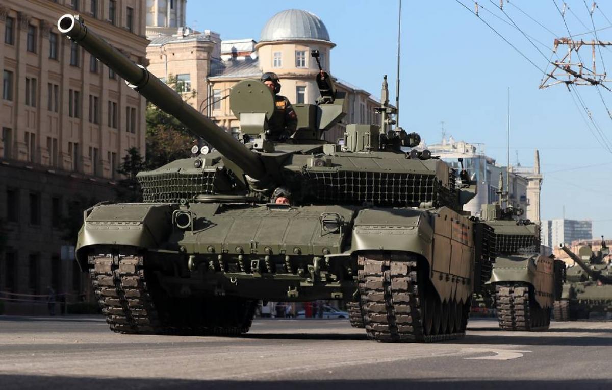 Xe tăng T-90M. Ảnh: TASS