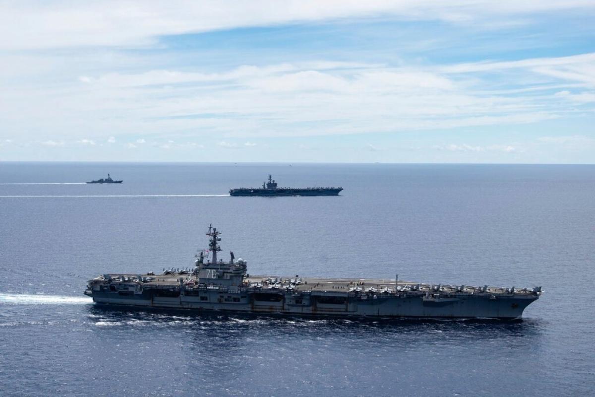 Tàu chiến Đức sẽ tới châu Á vào tháng 8/2021 và sẽ đi qua Biển Đông trong hành trình trở về. Ảnh minh họa: AP