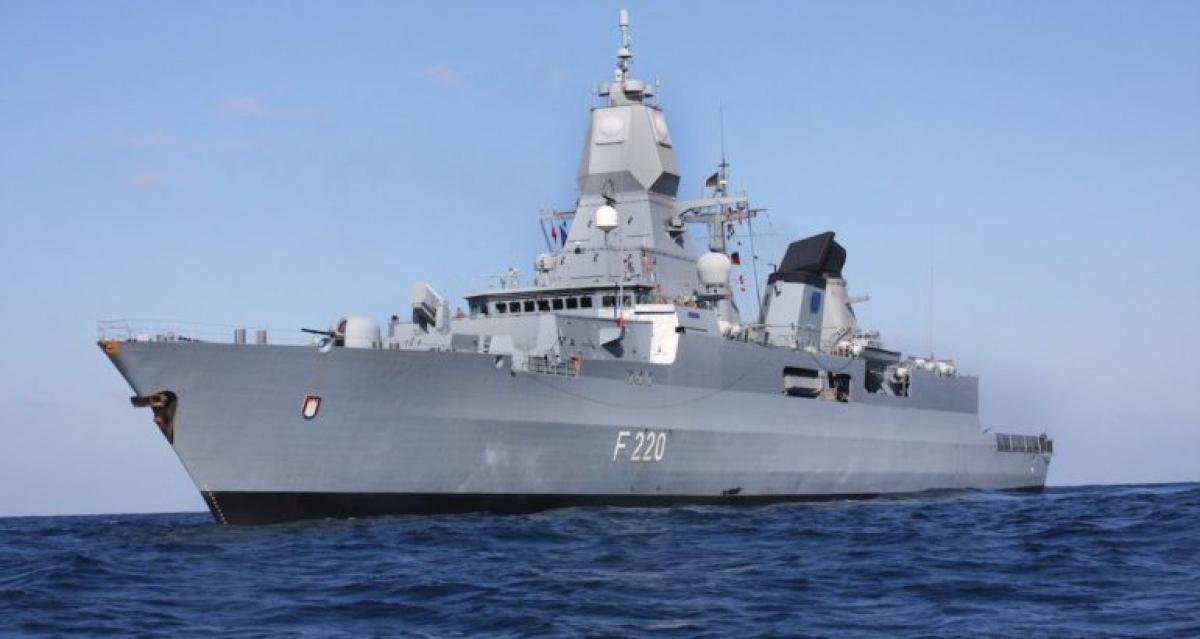 Một tàu chiến của Hải quân Đức. Ảnh minh họa: Naval News.
