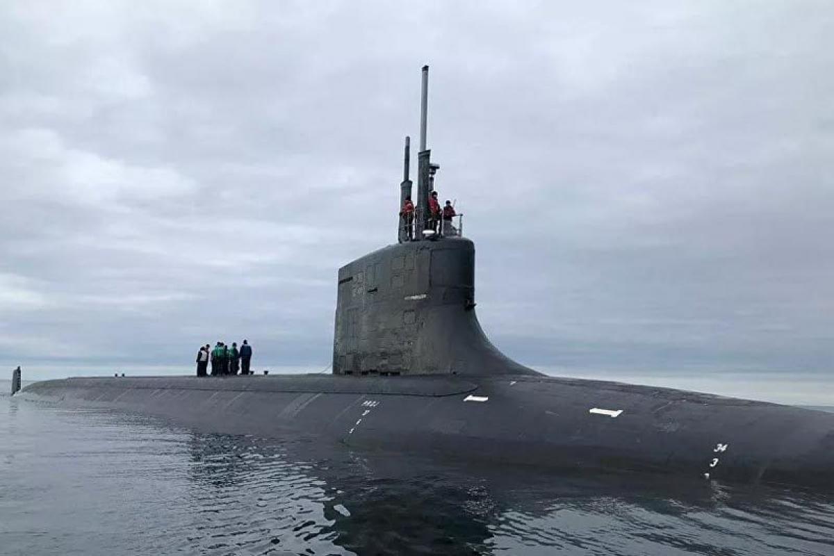 Tàu ngầmUSS Seawolf . Ảnh: Hải quân Mỹ