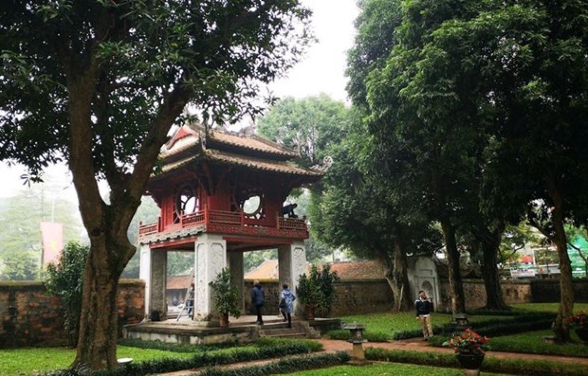 Van Mieu - Quoc Tu Giam (Temple of Literature) is a popular tourist site in Hanoi.
