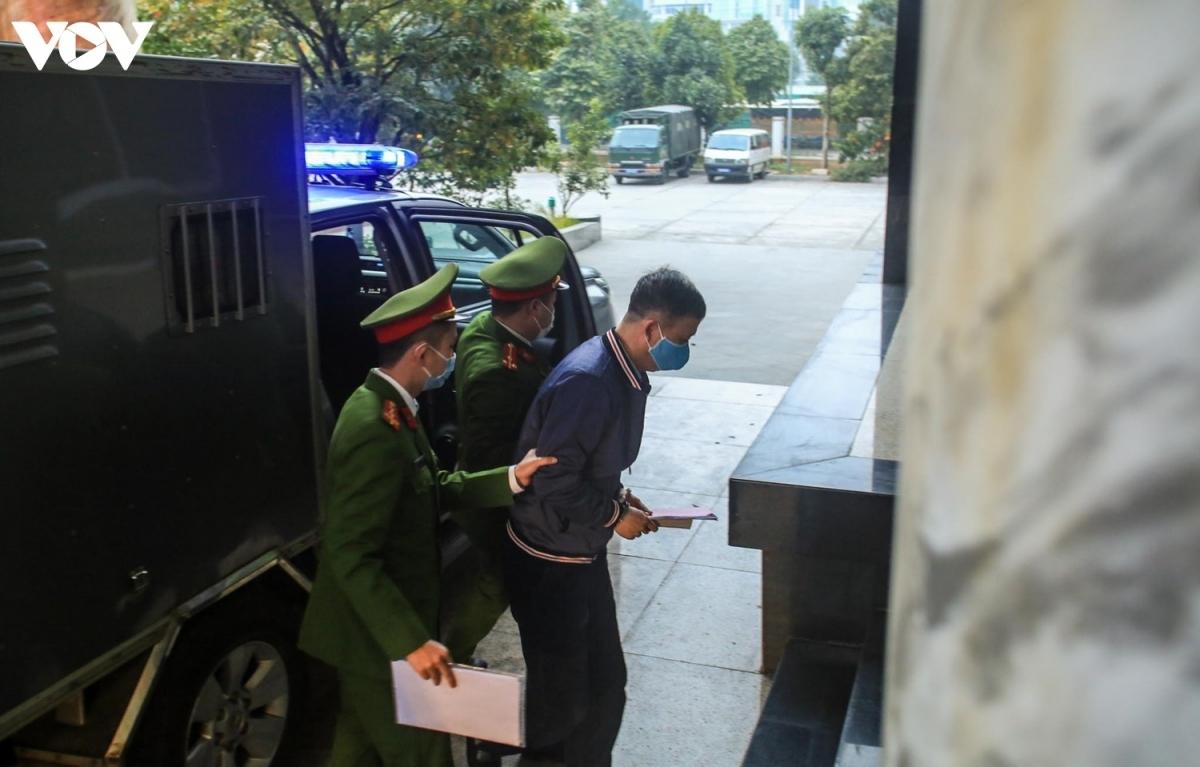 Bị cáo Trịnh Xuân Thanh tại TAND TP Hà Nội.