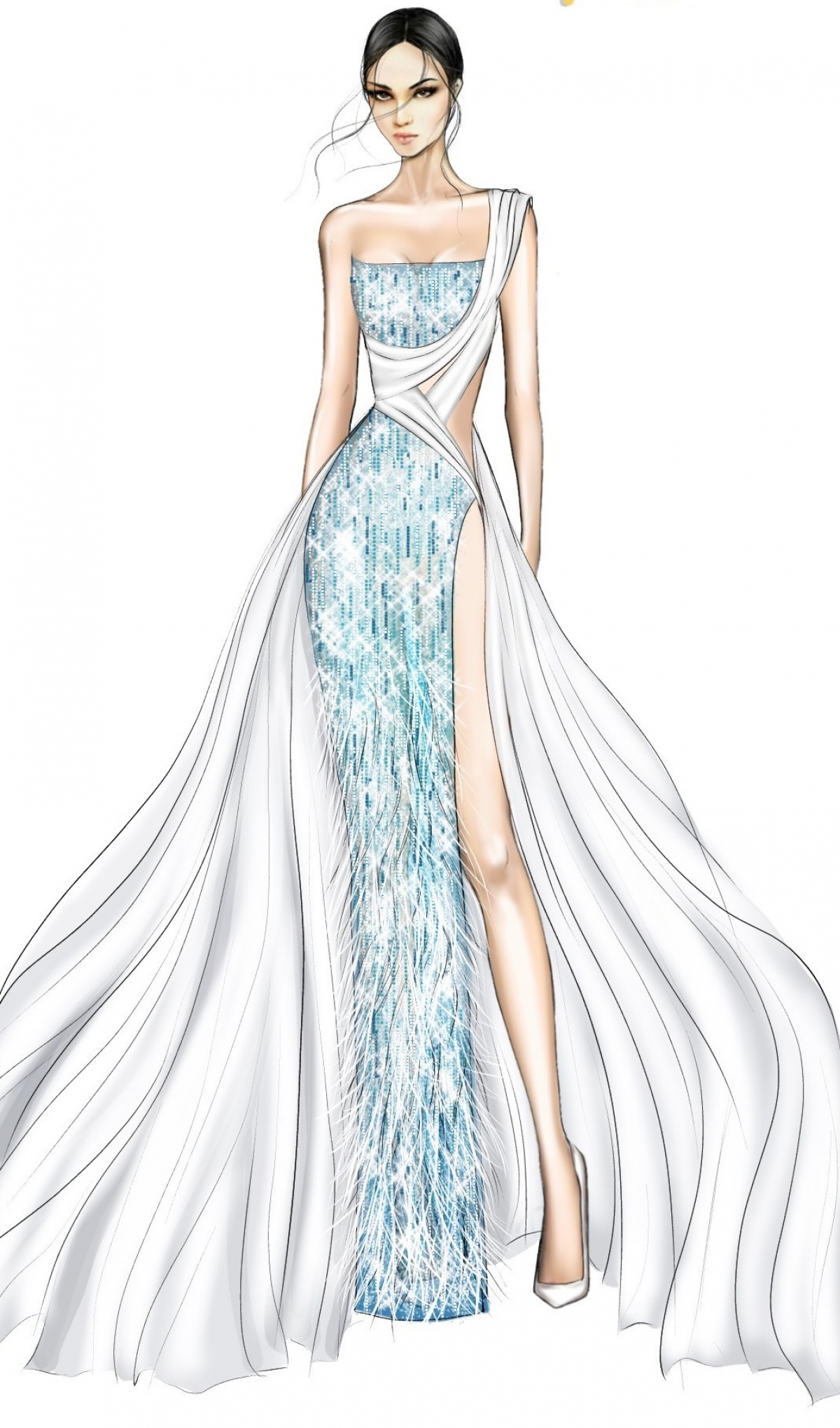 Một số thiết kế trang phục dạ hội cho Á hậu Ngọc Thảo.