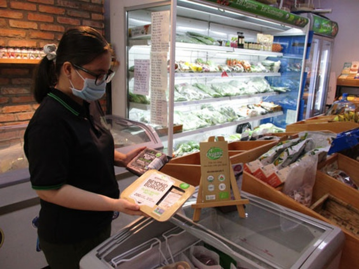 Thịt bò xay chay của Mỹ bán tại TP.HCM.