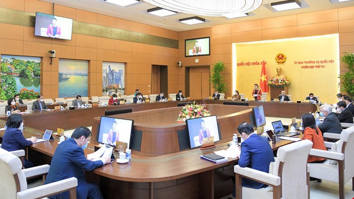 Phiên họp Ủy ban Thường vụ Quốc hội