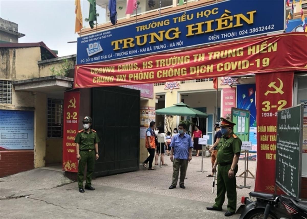 Trường Tiểu học Trung Hiền, quận Hai Bà Trưng, Hà Nội.