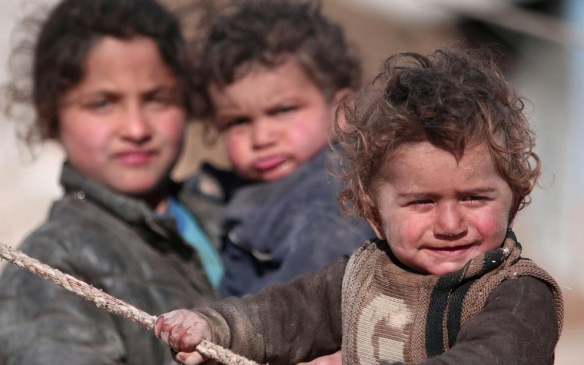 Trẻ em Syria. Ảnh: PBS.