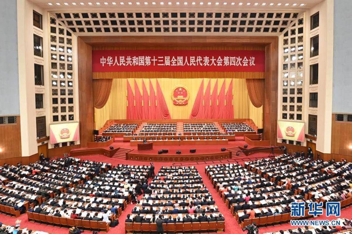 Trung Quốc khai mạc kỳ họp thứ tư Đại hội Đại biểu nhân dân toàn quốc Trung Quốc khóa XIII. Ảnh: Tân Hoa Xã.