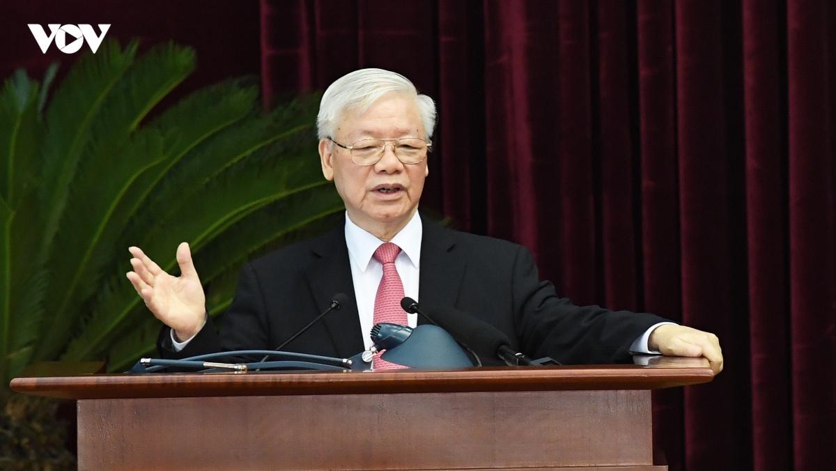 Tổng Bí thư, Chủ tịch nước phát biểu tại Hội nghị. Ảnh: Ngọc Thành