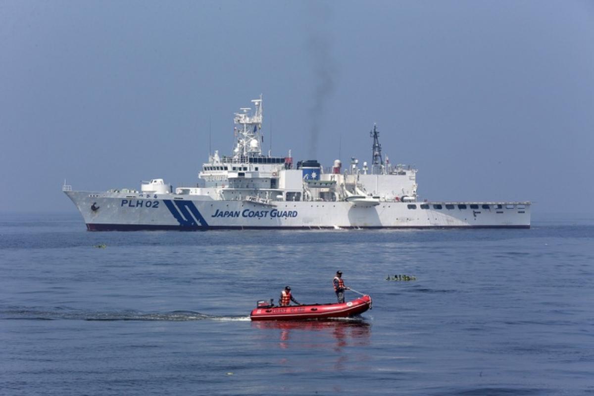 Tàu tuần duyên của Nhật Bản. Ảnh:Tân Hoa xã.