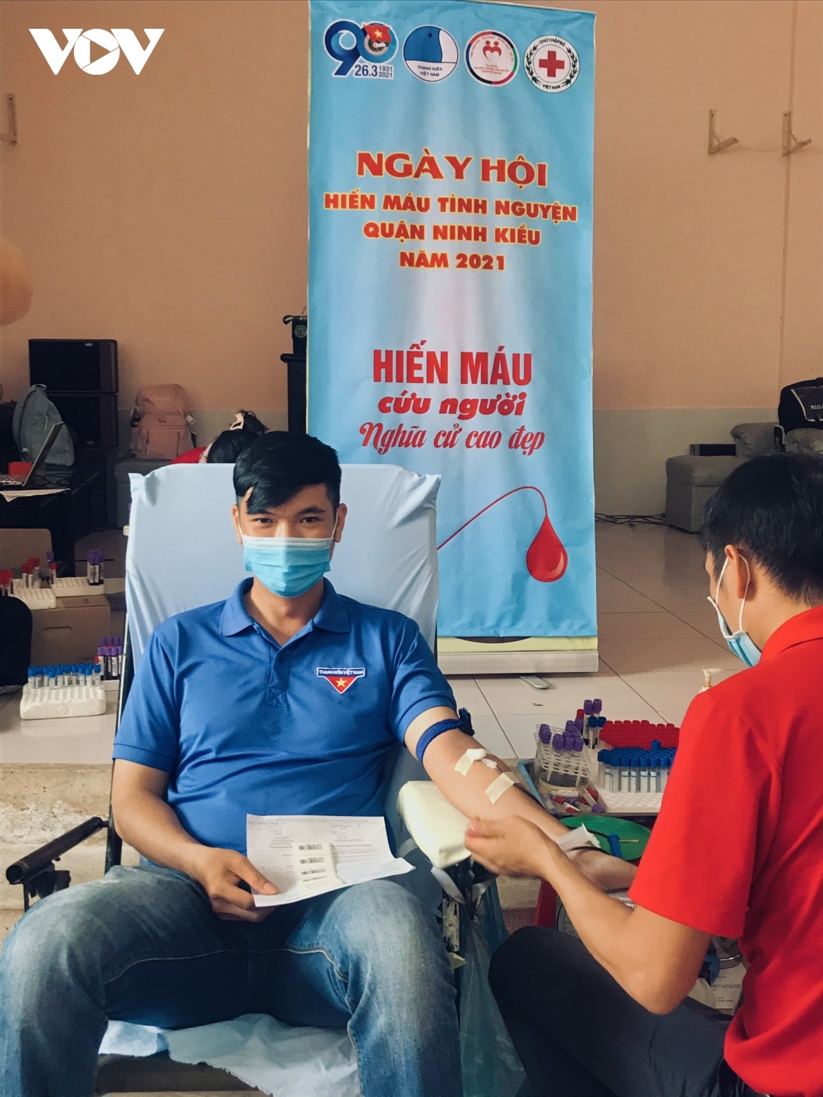 Can Tho city hosts a blood donation day, during which an estimated 750 units of blood are collected to support patients in need.