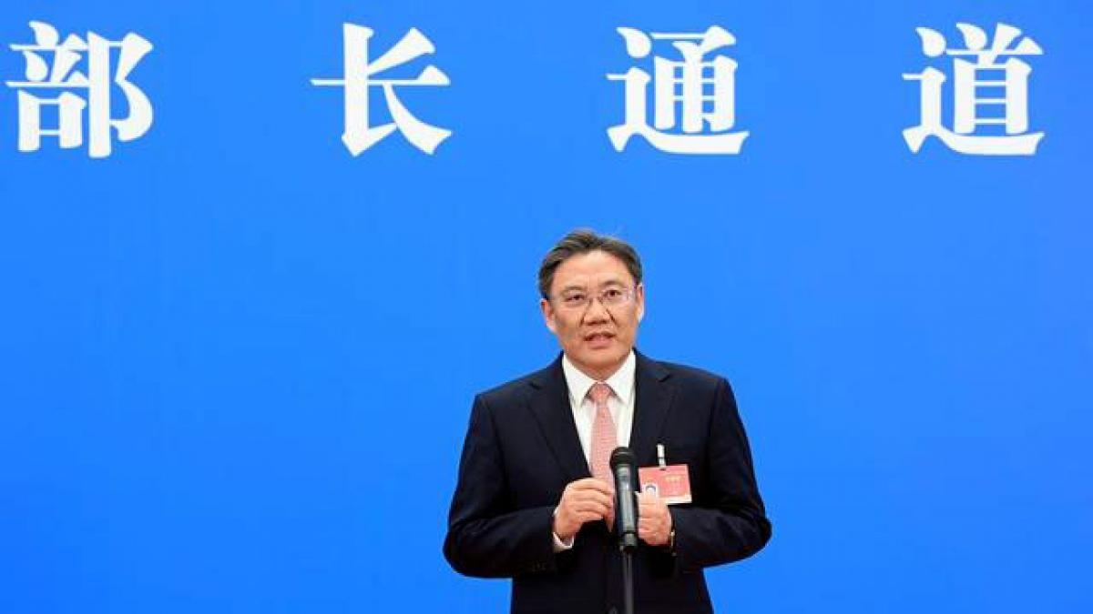 Ông Vương Văn Đào, Bộ trưởng Bộ Thương mại Trung Quốc. Ảnh: Nhật báo Bắc Kinh.