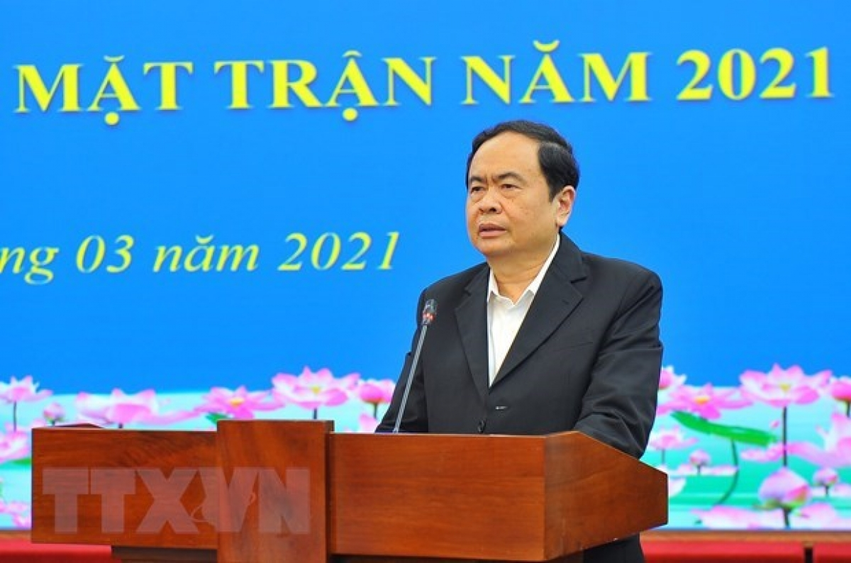 Politburo member and President of the VFF Central Committee Tran Thanh Man (Photo: VNA)