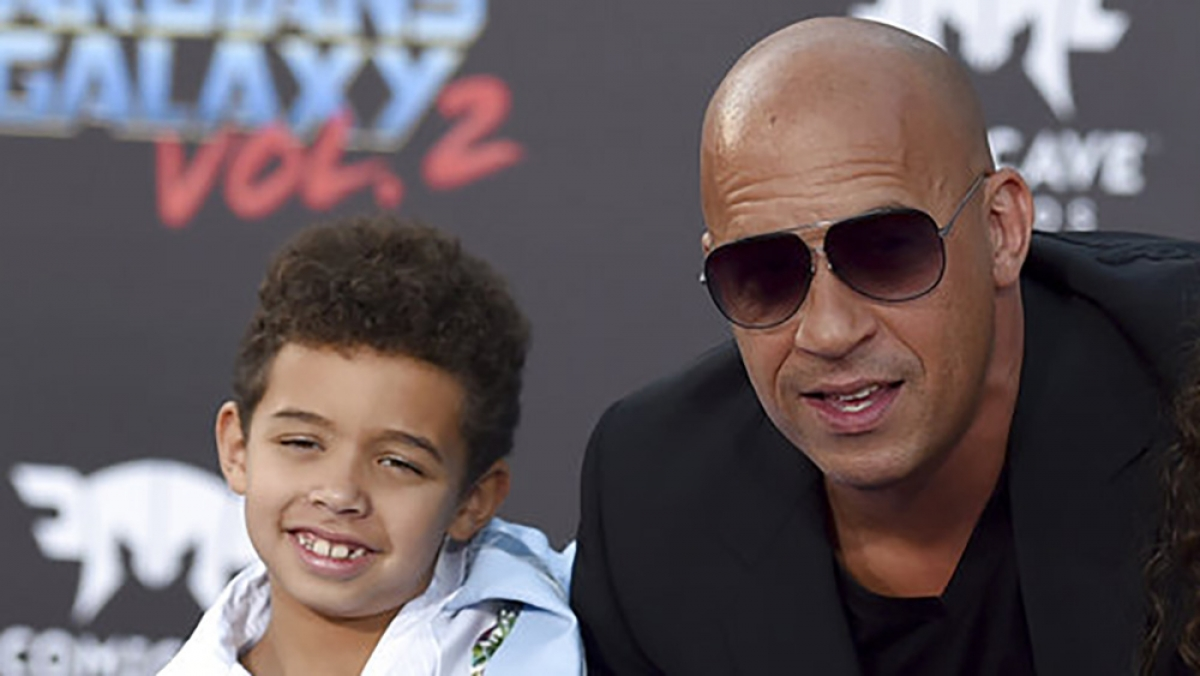 Hai cha con Vin Diesel. Nguồn: AP