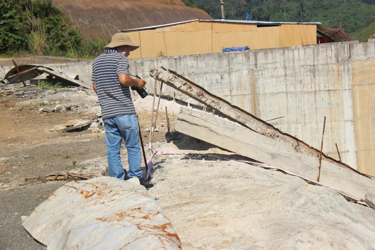 Nhiều hạng mục công trình thủy điện Nước Chè đang thi công dở dang