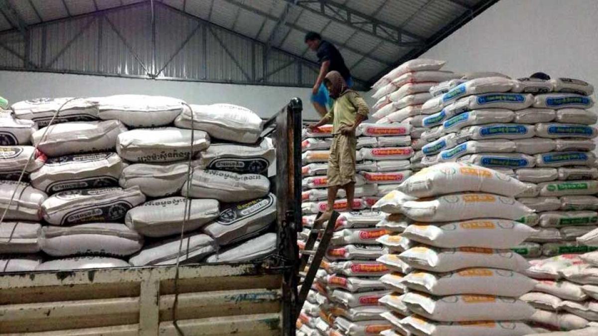 2 tháng đầu năm 2021, xuất khẩu gạo của Campuchia chỉ đạt 76.222 tấn.