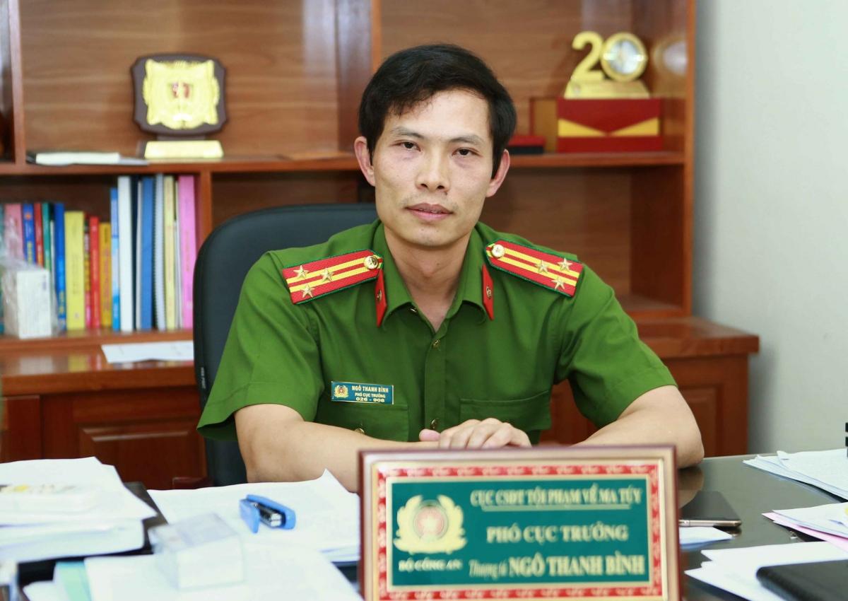 Thượng tá Ngô Thanh Bình, Phó Cục trưởng Cục Cảnh sát điều tra tội phạm về ma túy, Bộ Công an.