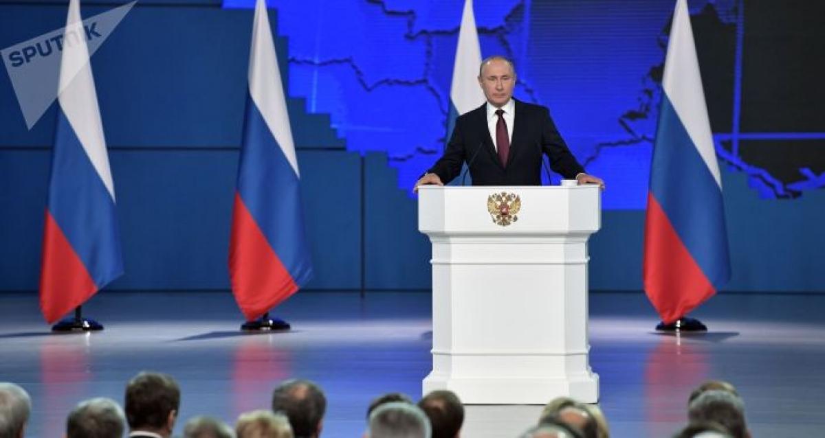 Tổng thống Putin tuyên bố tìm mọi cách bảo vệ lợi ích quốc gia. Ảnh: Sputnik.
