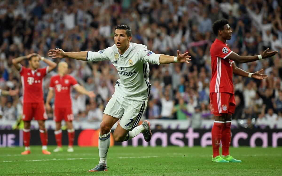 Ngày này 4 năm trước, Ronaldo ghi hat-trick giúp Real Madrid lội ngược dòng đánh bại Bayern Munich 4-2 ở tứ kết lượt về Champions League, qua đó đoạt vé vào chơi bán kết. (Ảnh: Getty).