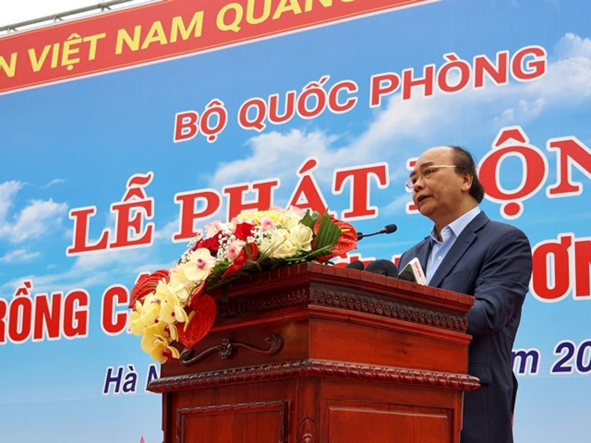 Chủ tịch nước Nguyễn Xuân Phúc phát biểu tại lễ phát động.