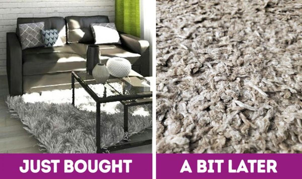 Thảm trải sàn với sợi vải dài được khuyến cáo với người tiêu dùng nên cân nhắc trước khi mua, bởi chúng sẽ chứa nhiều bụi và vi khuẩn hơn so với các loại thảm khác. Loại thảm này cũng cần được làm sạch thường xuyên hơn. Ngoài ra, thảm lông dài sau một thời gian cũng rất nhanh cũ.
