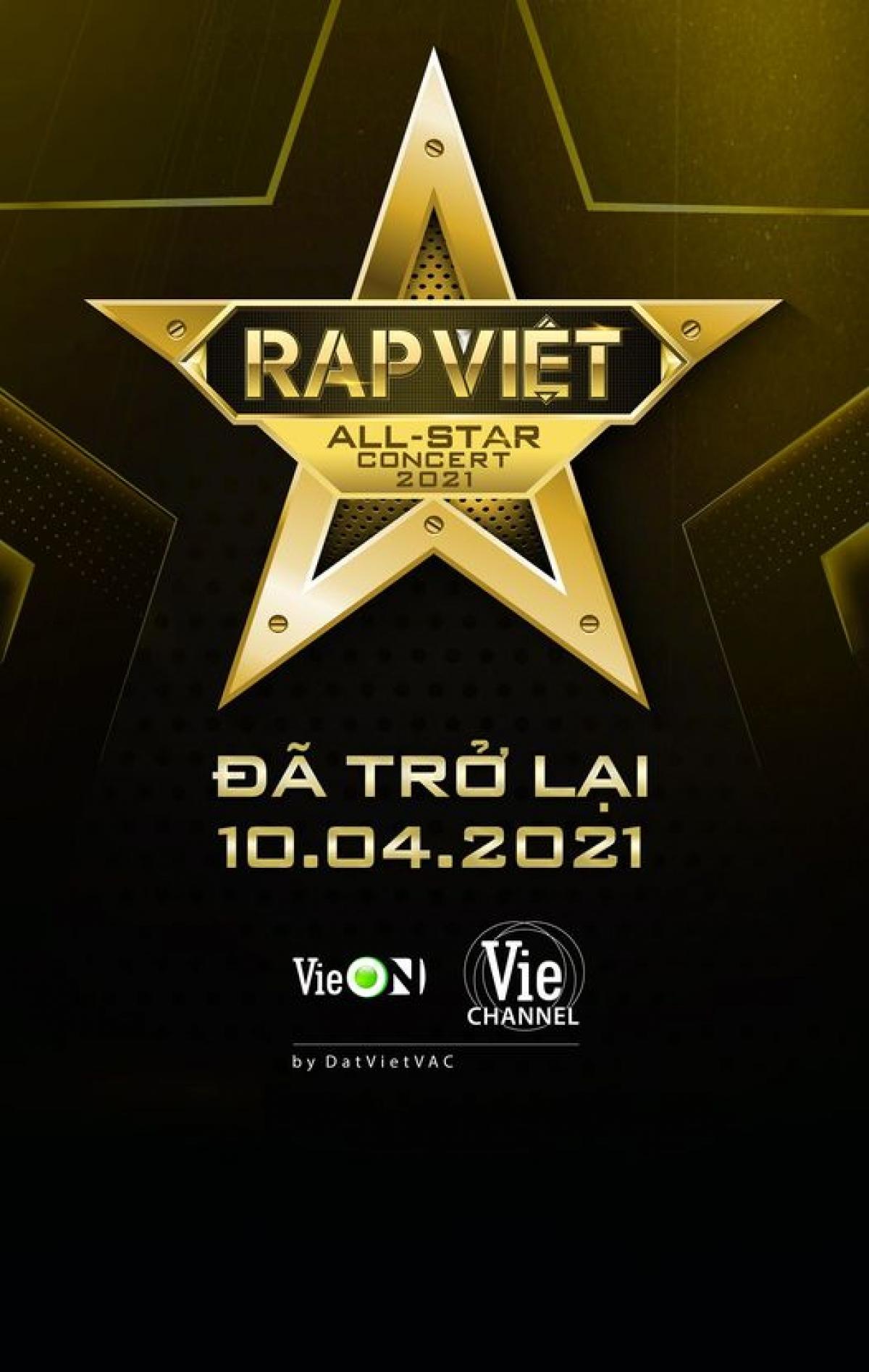 """Sự kiện âm nhạc được mong đợi concert """"Rap Việt All-Star"""" sẽ chính thức trở lại."""
