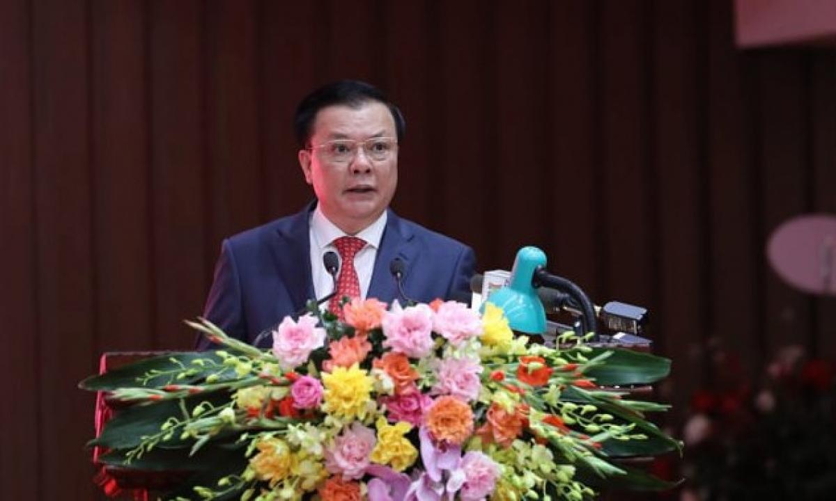 Tân Bí thư Thành ủy Hà NộiĐinh Tiến Dũng.