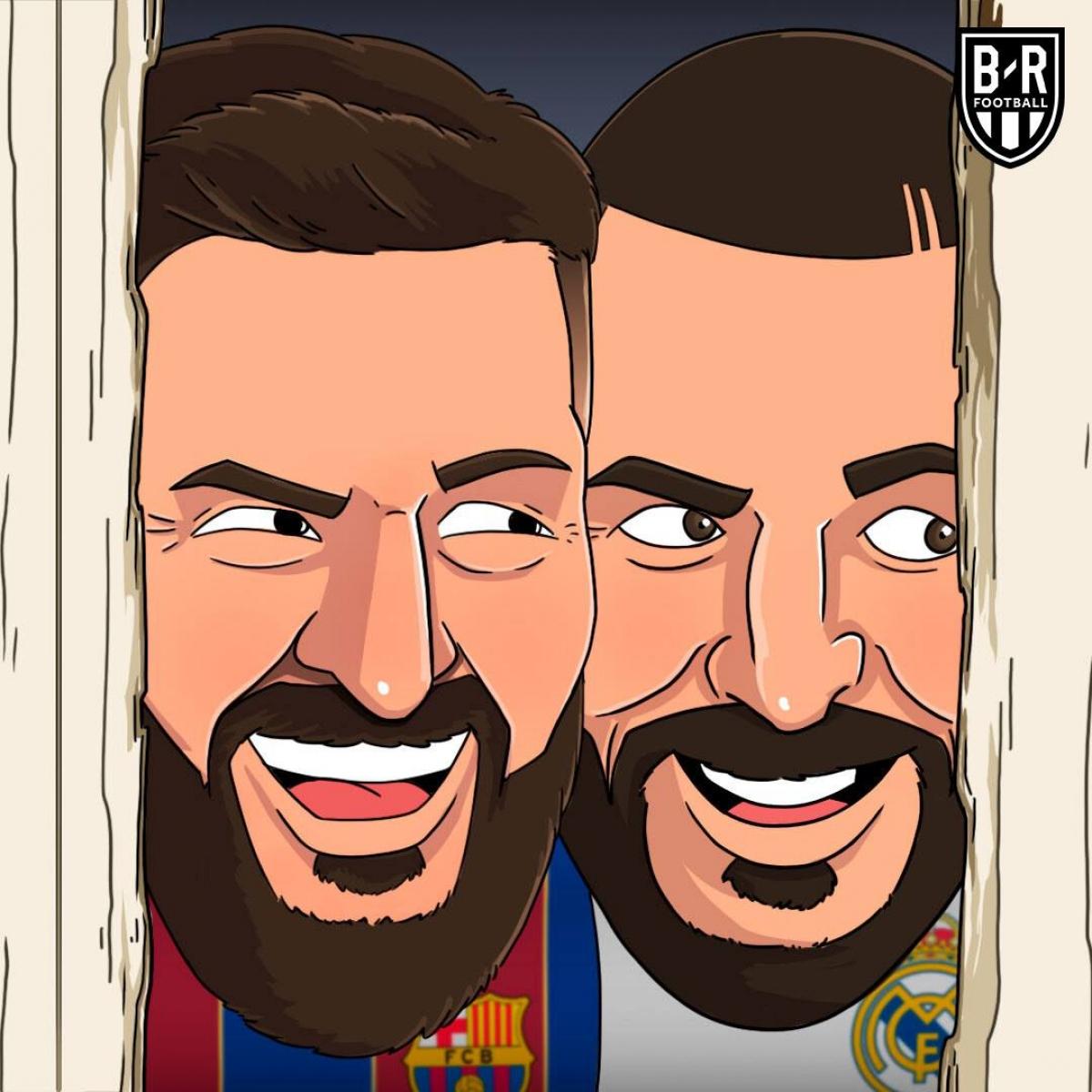 Barca và Real Madrid mừng thầm khi Atletico Madrid thua Sevilla. (Ảnh: Bleacher Reports)